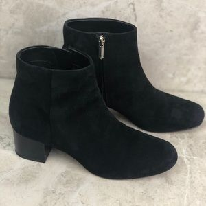 Sam Edelman black suede booties, 7.5